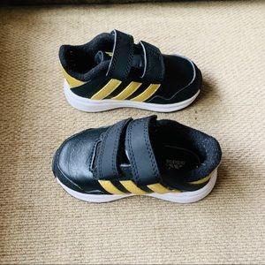 Infant Adidas Running Shoes Black Gold White